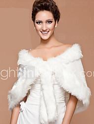 Faux Fur Wedding Bridal Shawl