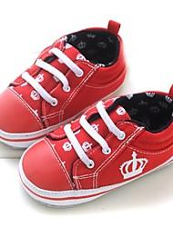 Baby Shoes - Casual - Sneakers alla moda - Cotone - Blu / Rosso