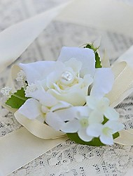 Wedding Flowers Hand-tied Roses Wrist Corsages Wedding Party/ Evening Satin