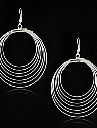 Fashion Gypsy Style Antique Silver Multi Circles Big Hoop Earring