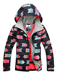 Women's Ski Ski/Snowboard Jackets / Jacket Waterproof / Breathable / Wearable / Windproof / Thermal / Warm Black / Others / FuchsiaSkiing