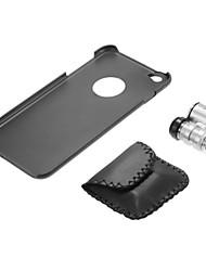 Lente del microscopio de 60x con PC de nuevo caso para el iphone negro 6 más