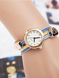 damesmode mooie hart armband quartz horloge (verschillende kleuren)
