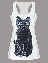 3D Sexy Black Cat Tank Top Dress Night Club Sexy Uniform