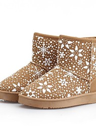 Snow Queen Style Snowflake Pattern Women's Low Thermal Winter Boots