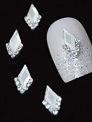 10шт белый маркиза 3d горный хрусталь поделки сплава аксессуары ногтей украшения