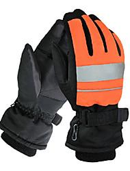 северной широты 35 ° унисекс оранжевый&черный полиэстер водонепроницаемый лыжные перчатки