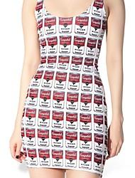 latas de sopa branco e vermelho vestido skater boate uniforme