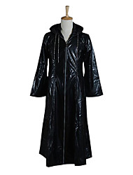 Inspired by Kingdom Hearts Cosplay Video Game Cosplay Costumes Cosplay Suits Solid Black Long Sleeve Coat / Necklace