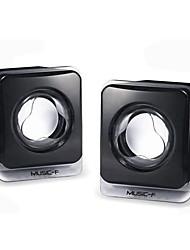 Mini haut-parleur audio noir mignon filaire