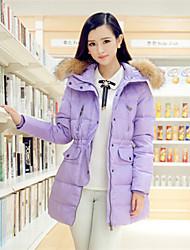 mode lourd cheveux collier couleur unie la gaine des femmes jumeiyi de manteau de plumes longue descente