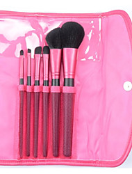 6pcs Professional Makeup Brush Set Tools Make-up Toiletry Kit Wool with Case