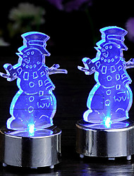 Christmas Ornaments Snowmam Candle Lights ,Plastic