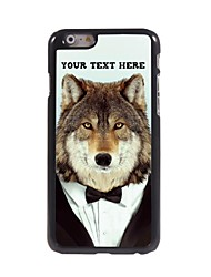 Personalized Phone Case - Wolf Design Metal Case for iPhone 6 Plus
