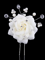 Women's Bridal Hiar Pins with Synthetic Pearl and Rhinestone(2pcs)