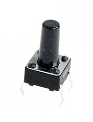 4-pin Tact Switch Tactile Push Button Switch DIY 6x6x11mm (100 pcs)
