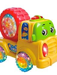 de roue de voiture de bande dessinée bébé coloré avec de la musique et de la lumière