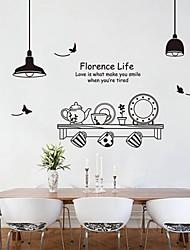 autoadesivi della parete stickers murali, adesivi murali pvc retrò da cucina