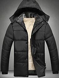 skymoto® plus size algodão de lã liningcoat dos homens