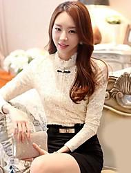 shangfei ™ moda feminina engrossar blusa de renda (mais cores)