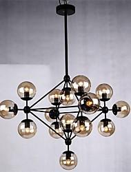 fer lumière pendentif 15 lumières style campagnard forgé