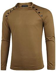Men's Long Sleeve T-Shirt , Microfiber Casual Pure
