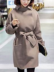 moda casaco de lã solta de Jansa ™ mulheres