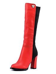 zapatos de las mujeres laikajindun botas de moda grueso rodilla botas altas talón más colores disponibles