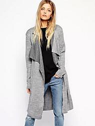 além de lapela pescoço casaco fashion malhas 6 das mulheres