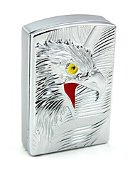 Personalized Engraving Falcon Silver Metal Electronic Lighter