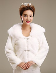 Wedding  Wraps / Fur Wraps Coats/Jackets Long Sleeve Faux Fur Ivory Wedding / Party/Evening Clasp