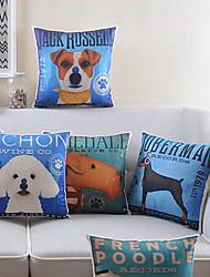 juego de 4 vívida algodón patrón de perro / ropa cubierta decorativa almohada