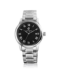 Men's Calendar Analog Round Dial Stainless Steel Quartz Watch(Assorted Colors)