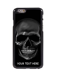 Personalized Phone Case - Black Skull Design Metal Case for iPhone 6 Plus