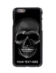 caja del teléfono personalizado - caso del diseño del cráneo de metal negro para el iphone 6 más