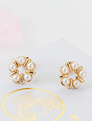 Casual Gold Plated Stud Earrings