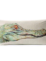 crocodilo algodão / fronha cintura decorativo linho