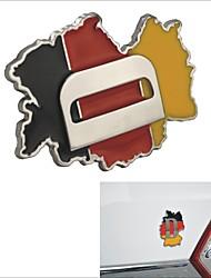 élégant en alliage sticker de décoration de voiture en aluminium - Allemagne Plan motif