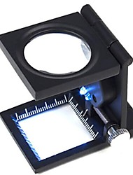 8x Lupa dobrável lupa com fonte de luz LED