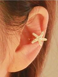 puños de diamantes de la moda del oído aleación estrellas de mar (1pc)