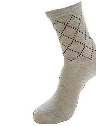 padrão de agulha dos homens mais meias grossas (5pairs, cor colocação aleatória)