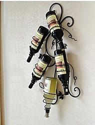 E-HOME® Metal Wall Art Wall Decor, Wine Bottle Rack Wall Decor