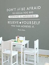 Wall Stickers Wall Decals, Modern Inspiration Quote PVC Wall Stickers