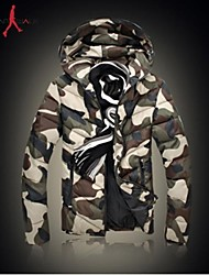 MANWAN WALK®Men's Camouflage Thick Warm Down Jacket.Casual Slim Hooded Coat.Size L-3XL
