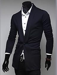 de los hombres tony nueva solapa de la moda único hebilla cardigan
