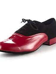 Латинской женские каблуки лакированные плоские пятки Buckie танцевальной обуви