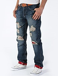 Herrenmode Löcher in Jeans