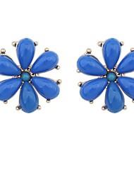 Women's Gorgeous Flower Needle Stud Earrings
