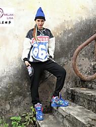 milanlisa® женские прилив полиграфической продукции кролик MAOMAO длинные рукава свободные большой совет флис одной женщины