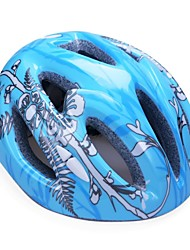 Fashion Comfortable+Safety EPS 11 Vents Kids'  Integrally-molded Cycling Helmet - Blue + Black + Silver